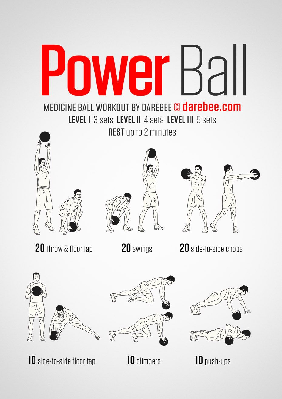 Power Ball Workout | Medicine ball workout, Ball exercises ...