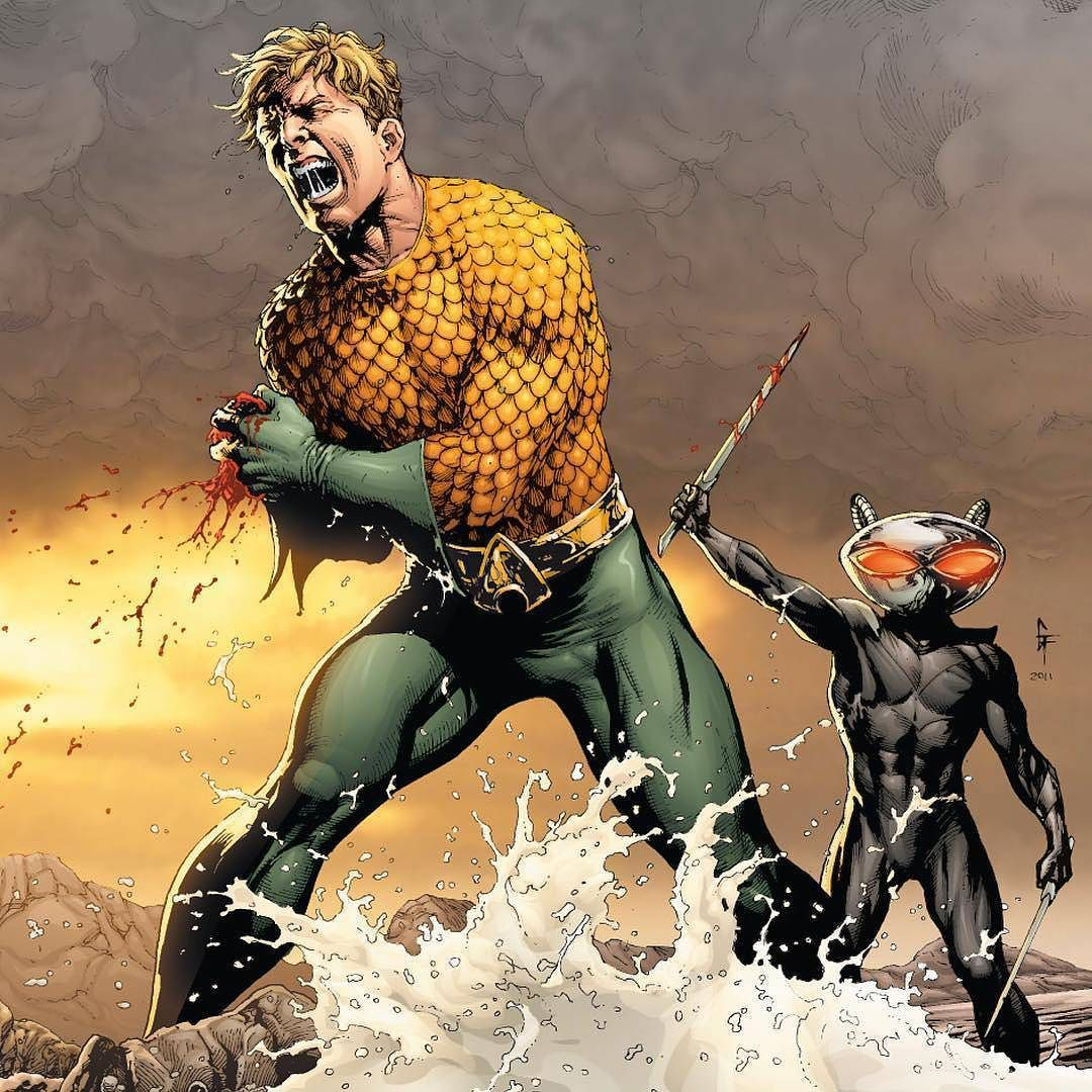 Aquaman VS Black Manta by Gary Frank & Nathan Eyring! - Comic - 'Brightest Day' #20 by devilzsmile.com