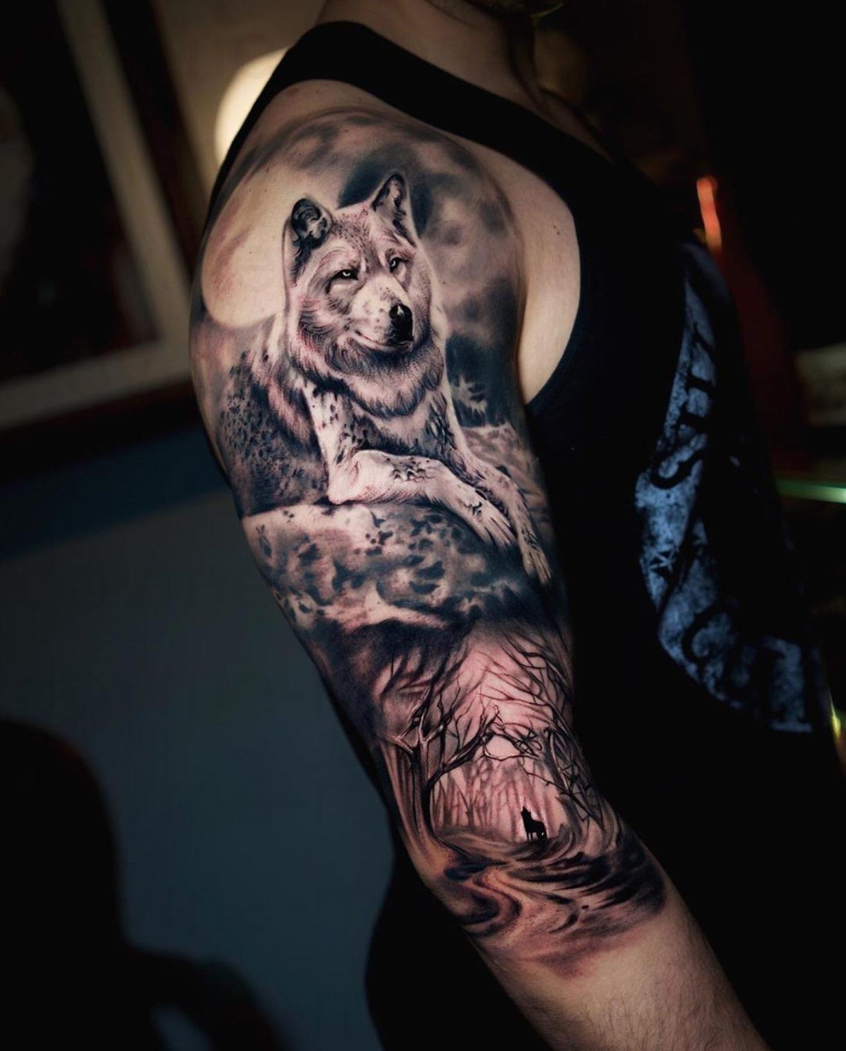 erkekler icin 10 carpici dovme tasarimlari dovme tasarimlari wolf tattoo design dovme