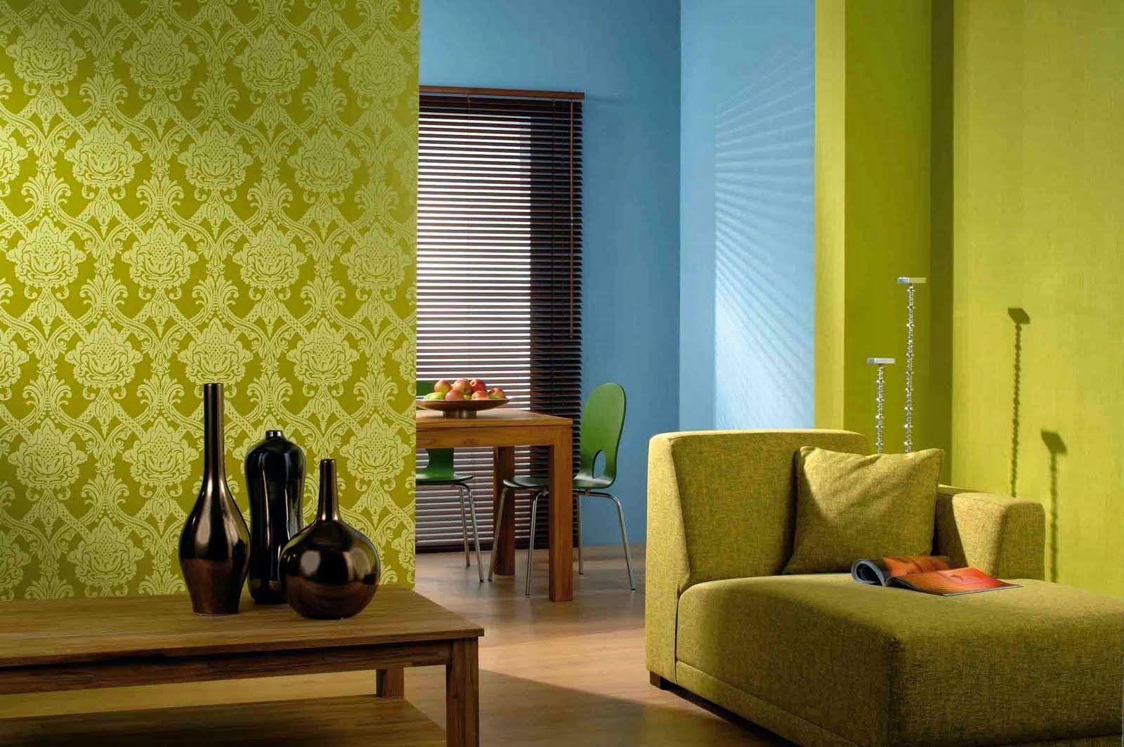 Ide Wallpaper Mewah Ruang Tamu Minimalis Hijau | Desain Interior ...