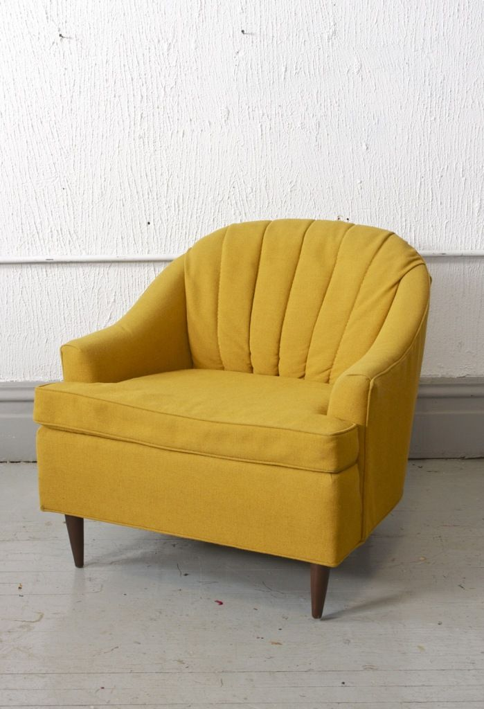 Super Cute Small Yellow Club Chair. Made By Rowe Furniture, From 1966.
