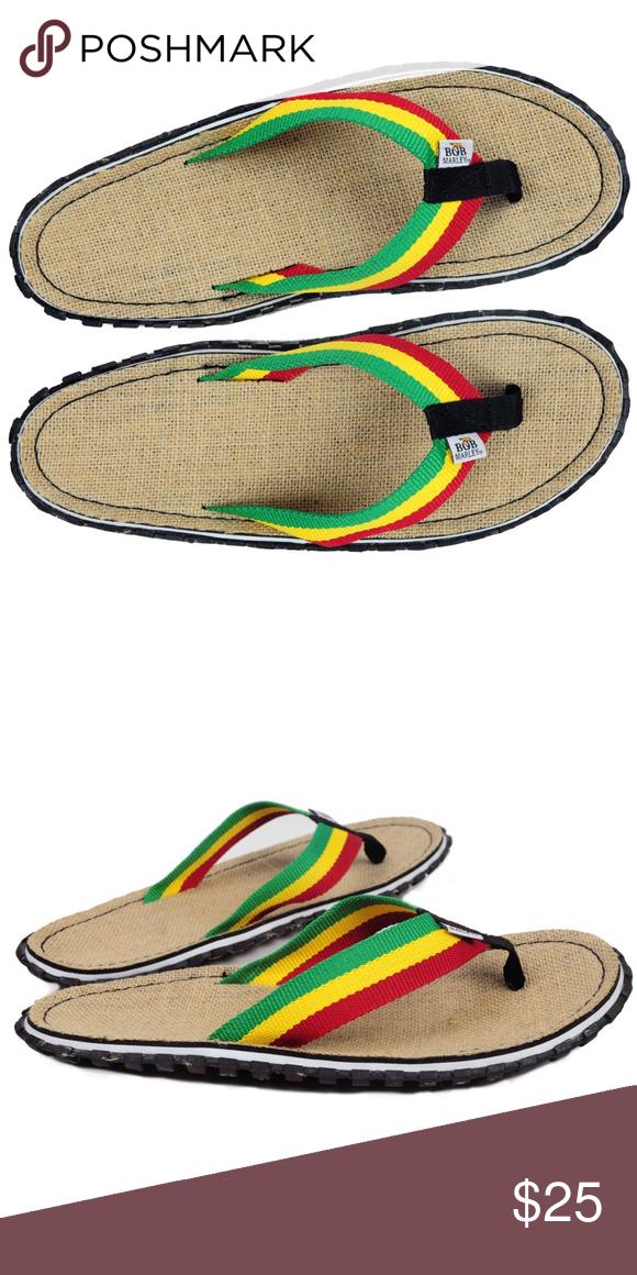 7eac1e0025a7 Bob Marley Fresco Sand Rasta Flip Flops reggae 13 Bob Marley - Fresco Sand  Rasta Mens