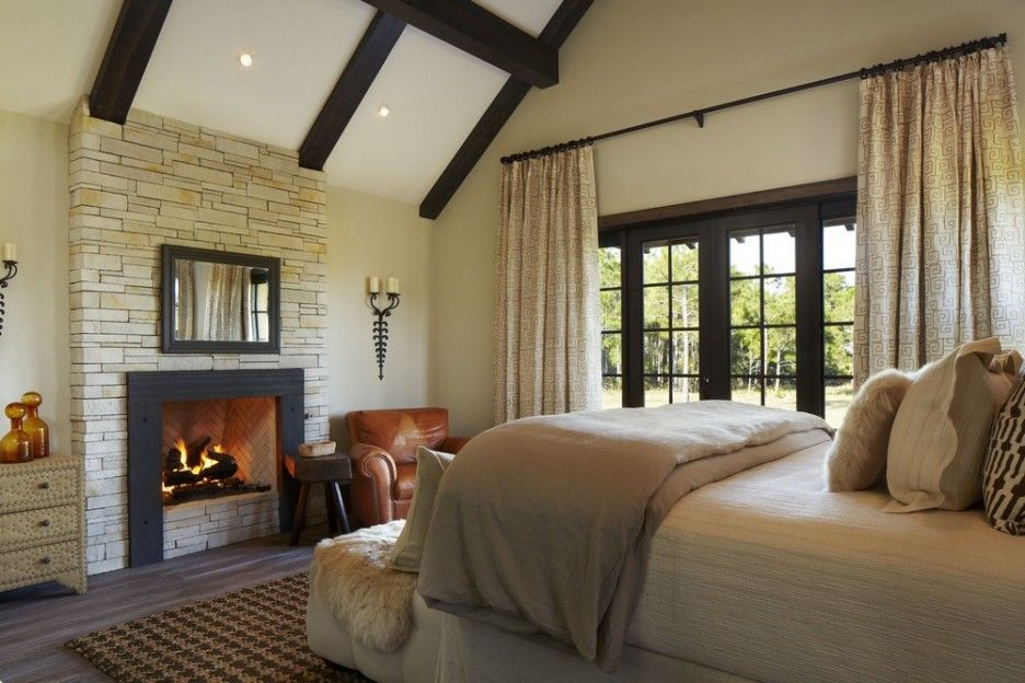 Master Bedroom Fireplace stunning traditional ranch with scenic view: exciting master