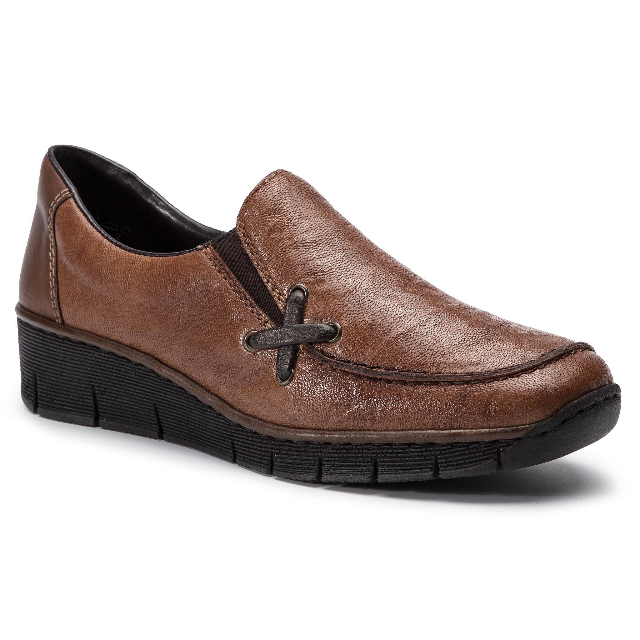 Wybierz Polbuty Rieker 53783 22 Brazowy I Zaskakuj Stylem Przekonaj Sie Ze Moda I Wygoda Ida W Parze Gwarancja Atra Dress Shoes Men Loafers Men Oxford Shoes
