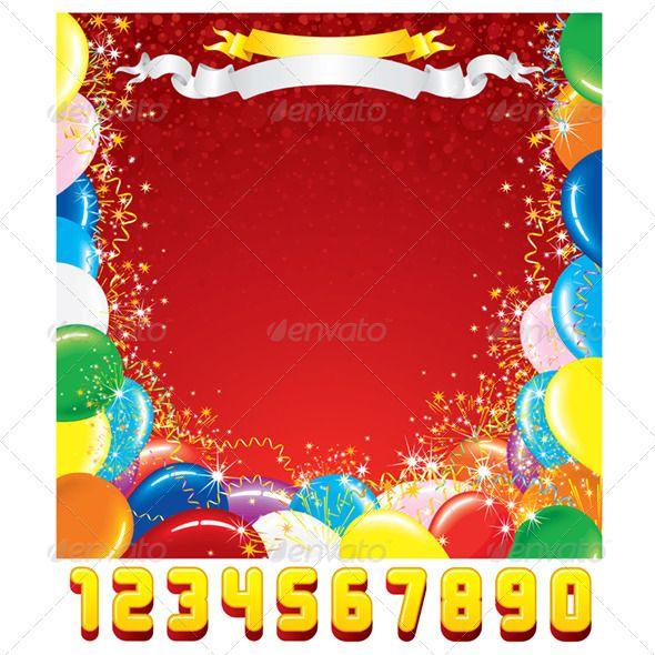 Birthday Greeting Card Vector Template  Birthday Greeting Cards