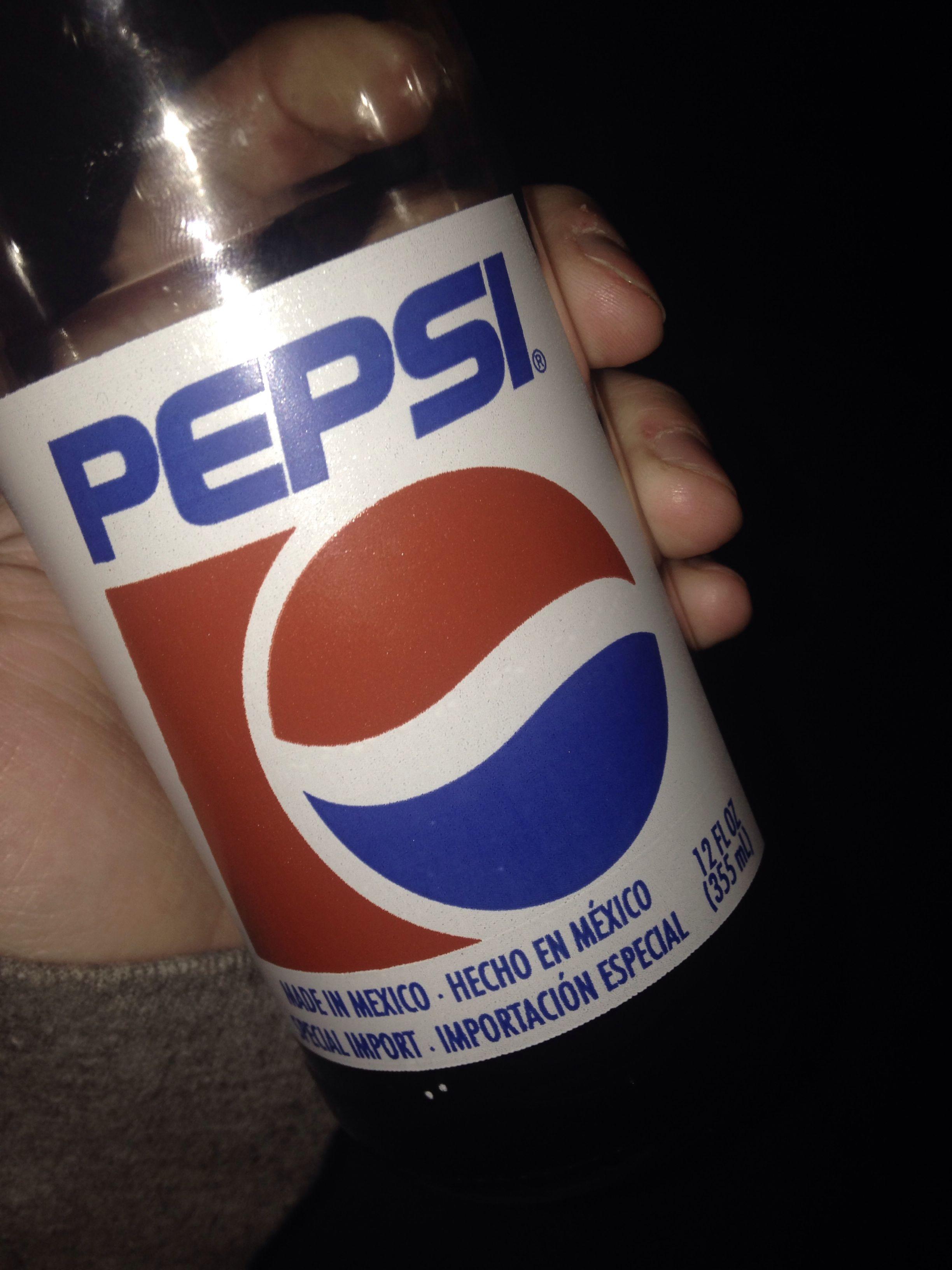 Mexican Pepsi! Yum