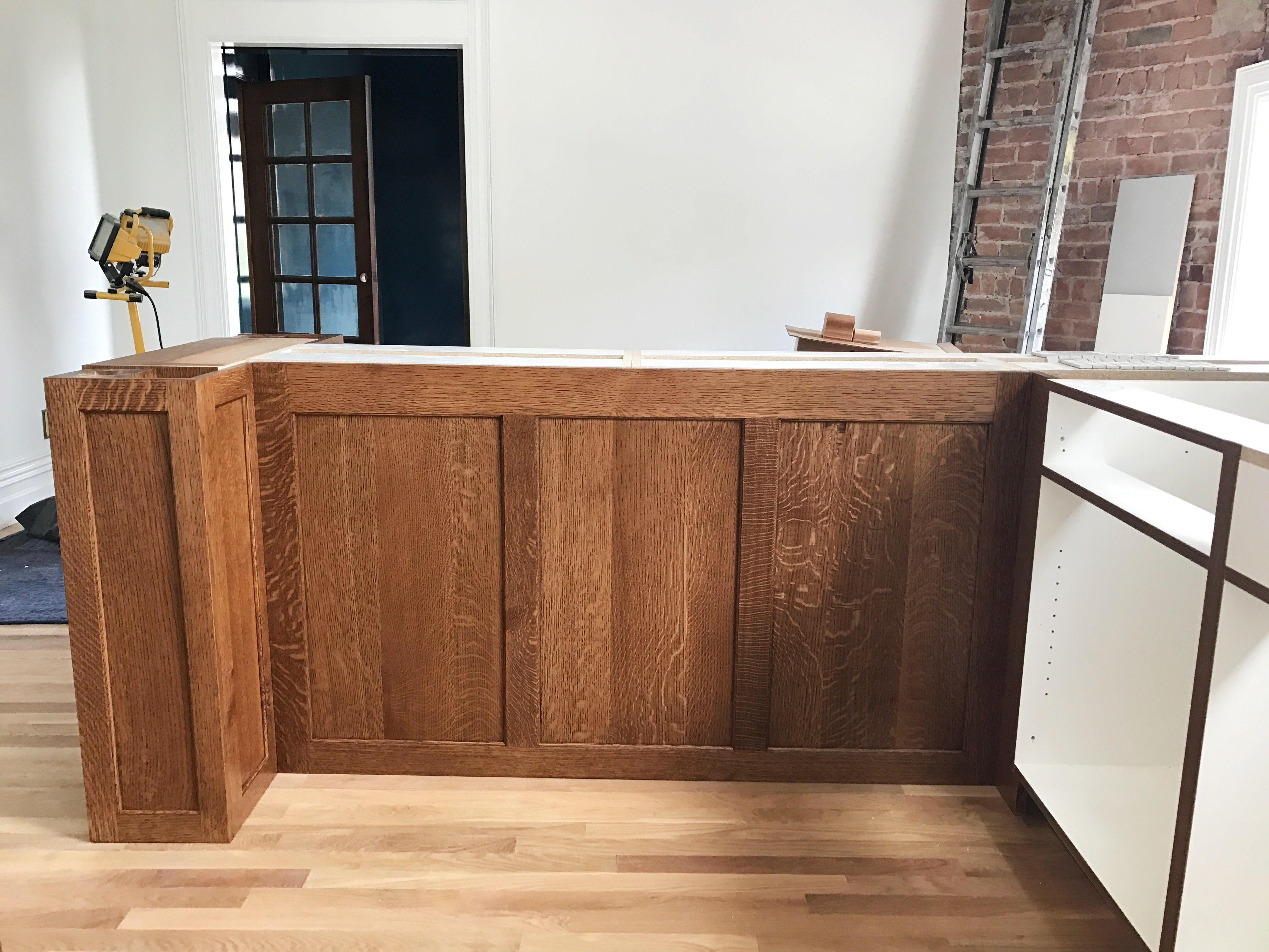 Quarter sawn oak kitchen cabinets. | Oak kitchen cabinets ...