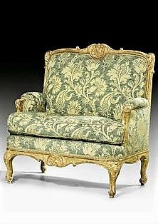 Pair Of Marquis Chairs Louis Xv Probably Ansbach Ca 1750