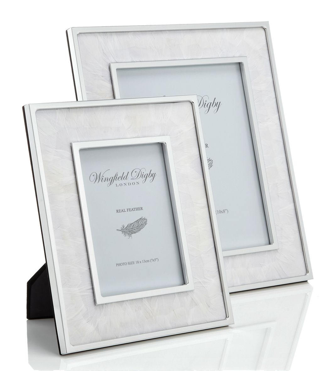 Wingfield Digby White Goose Feather Small Photo Frame Uber Interiors Trend Insight Feathers Glass Photo Frames Frame Small Photo Frames