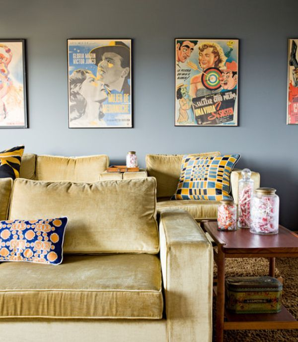 Interior Design Ideas For Home Theater: How To Decorate Using Posters