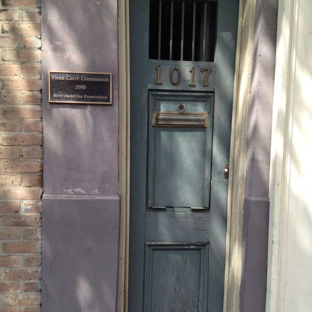 Beautiful doors in New Orleans - so skinny!