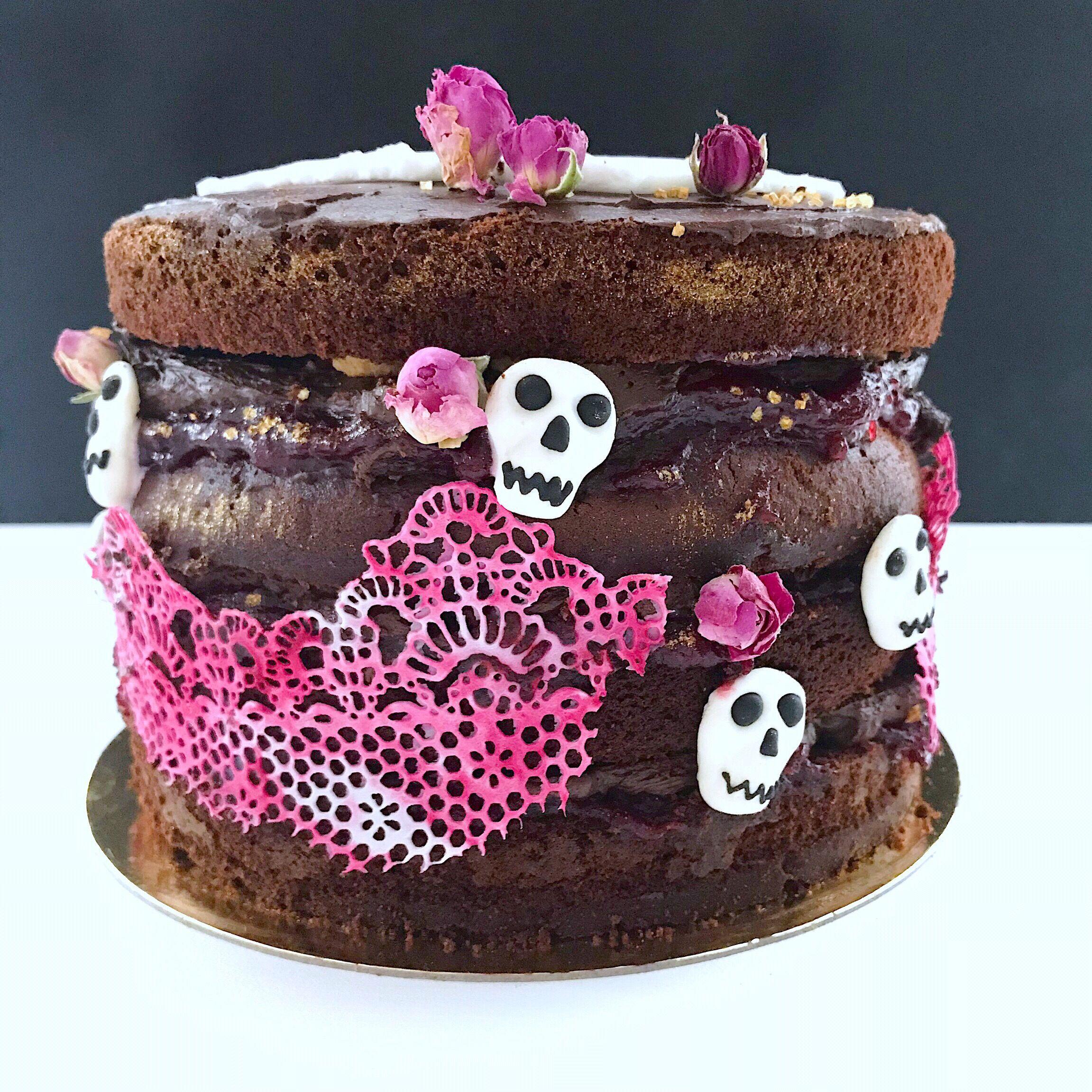 Halloween Torte Rezept Apfel Schokolade Halloween torte