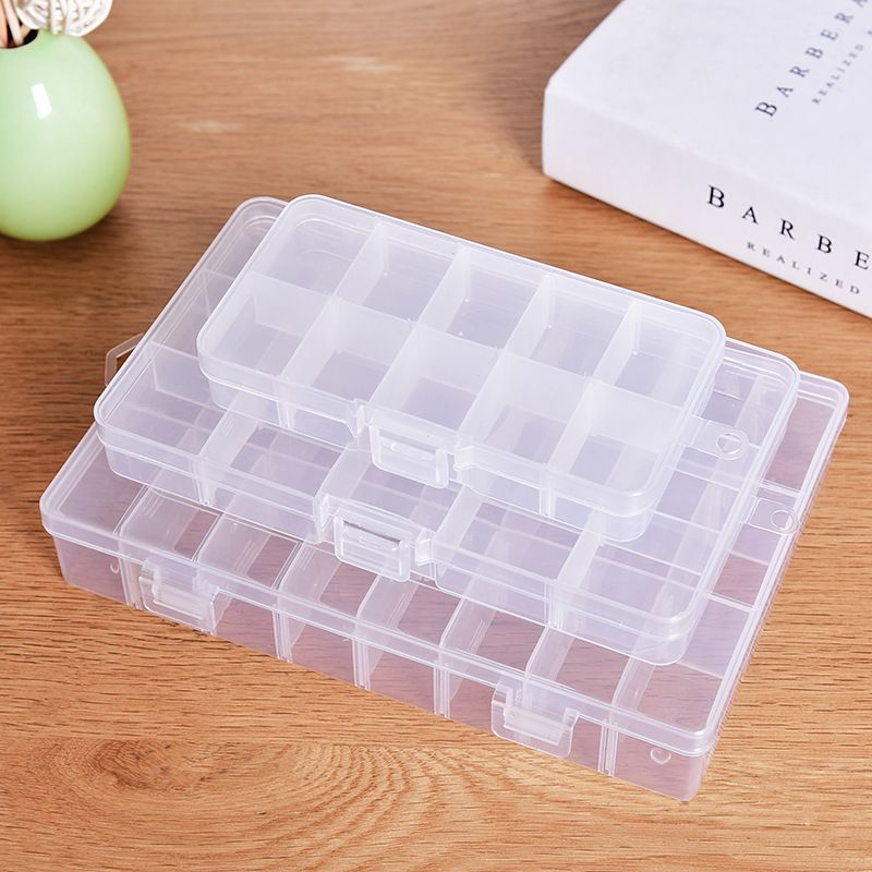 10 24 Grid Compartments Storage Box Plastic Cosmetic Storage Jewel Bead Case Cover Box Storage Container Ad Cosmetic Storage Plastic Box Storage Covered Boxes