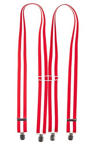Suspenders 4 Clips X Form German Quality High Quality Strong Clips