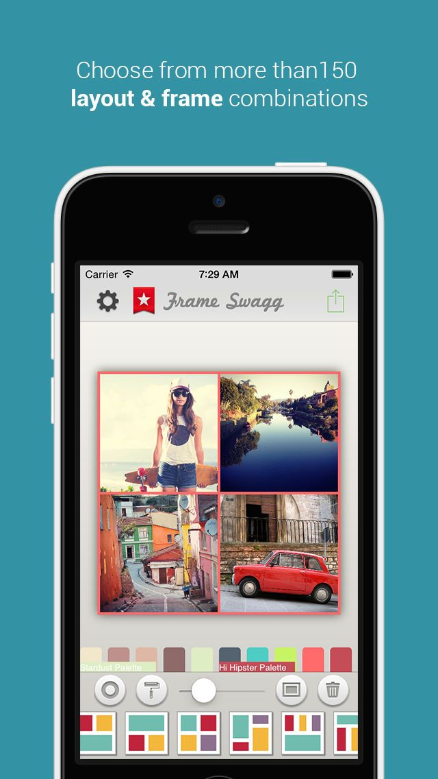 Frame Swagg Pro Photo collage maker to stitch pic for