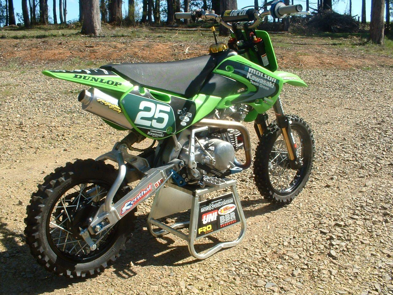 Fmxaustralia Com 2006 Klx 143se Now Splitting By Ps50 Pit Bike Dirtbikes Kawasaki Dirt Bikes