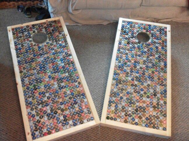 Cornhole Boards Set For Teamr4v Org Bottle Cap Tables