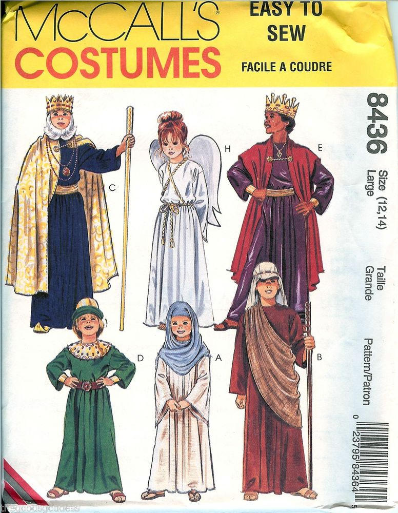 McCalls Biblical sewing pattern 8436 XS-XL UNCUT Child Shepherd ...