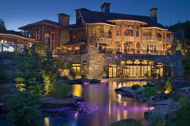 Spectacular Whitefish Mt Timber Frame Home Centennial Timber Frames Kalispell Mt Luxury Homes Dream Houses Dream Home Design Beautiful Homes