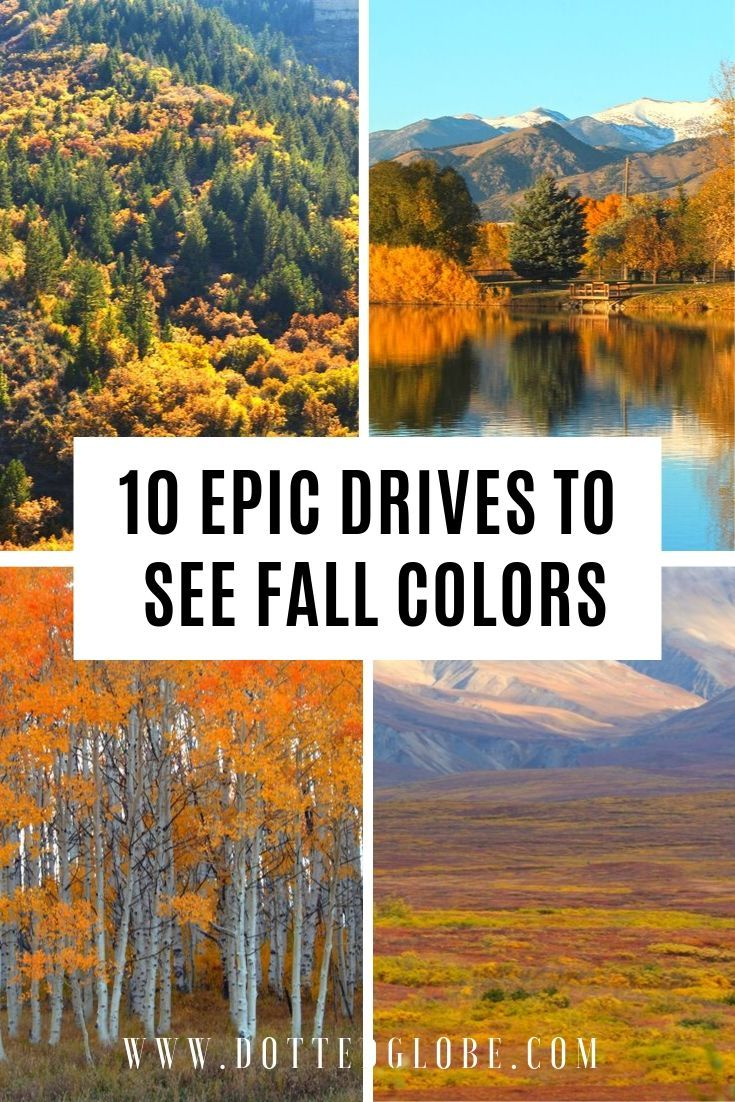 10 spectacular routes for best fall foliage in USA #fallscenery