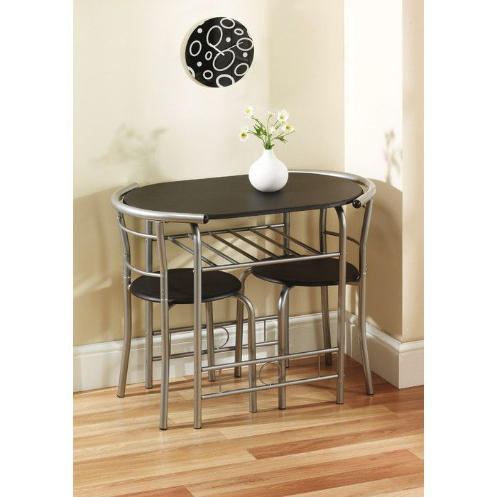 Reenan Dining Set With 2 Chairs Compact Dining Table Kitchen