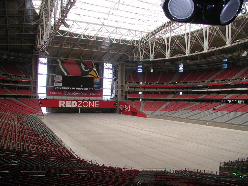 University of Phoenix Stadium no field State Farm