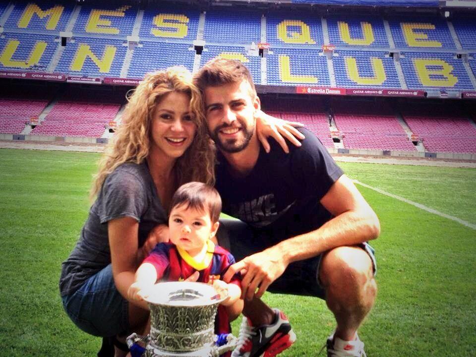 Shakira, Piqué y Milán.
