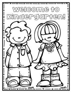 Free welcome to school coloring pages for back to school Coloring book for kinder