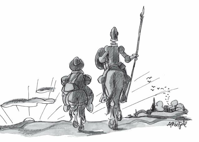 Antonio Mingote Don Quijote Y Sancho Panza Don Quijote Dibujo Don Quijote Quijote De La Mancha