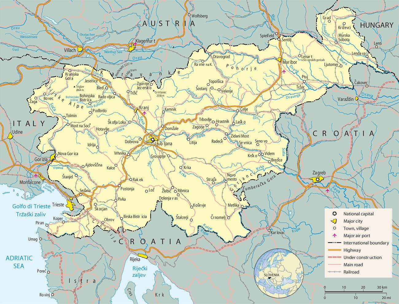 slovinia Map Europe   Copyright © Geographic Guide - Travel and ...