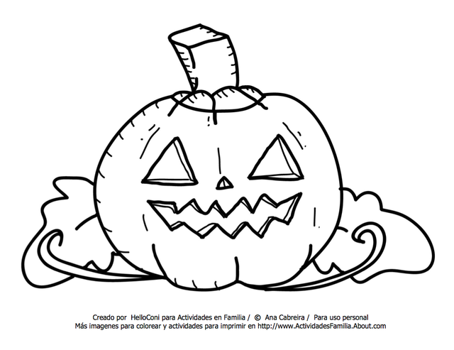 10 Dibujos de Halloween para imprimir y colorear