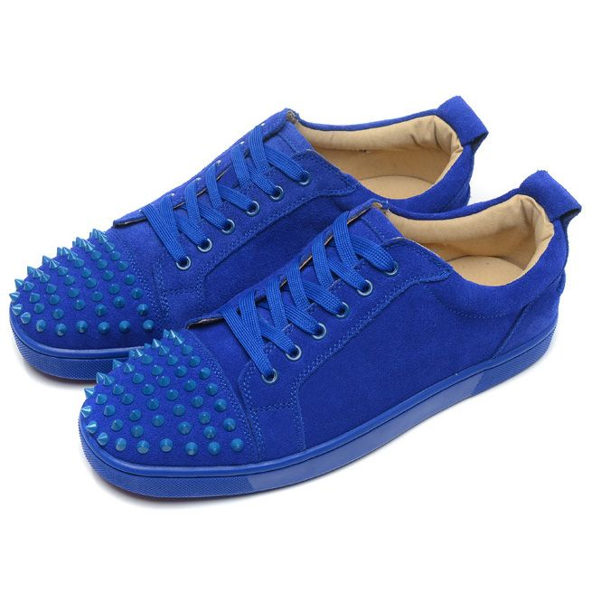 christian louboutin mens sneakers blue