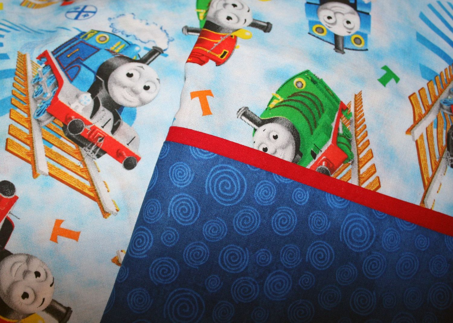 Thomas The Train Pillowcase Glamorous Thomas The Train Pillowcasesewnmyway On Etsy  Stuff To Buy Inspiration