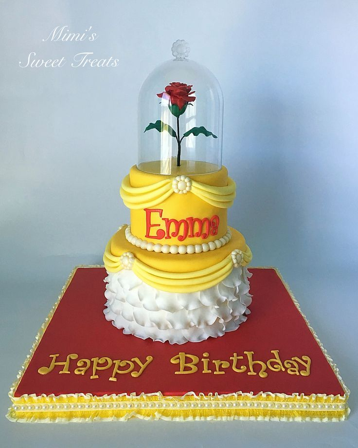 Disneys Beauty and the Beast Princess Belle Birthday Cake Beauty