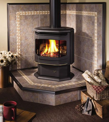 wood stove hearth pictures