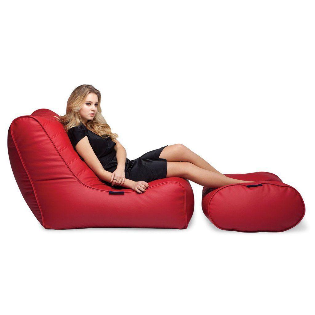 Mini Terapy Ergonomische Zitzak.Ambient Lounge Fiorenze Bean Bag Set Mode Red Kleurrijke
