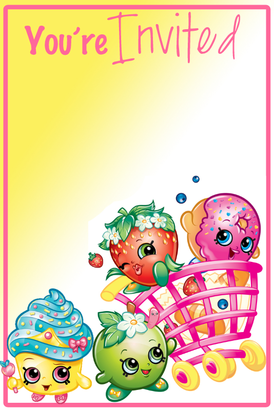 photograph regarding Shopkins Printable Invitations titled Pin by way of Cunning Annabelle upon Shopkins Printables in just 2019