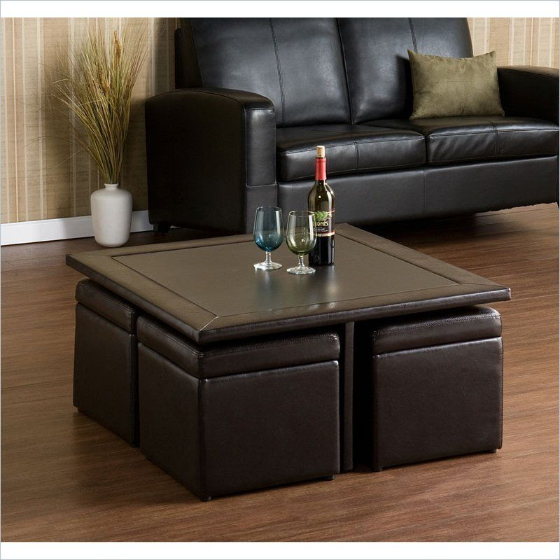 Holly Martin Broderick Storage Cube Table Set Convertible - Square coffee table with storage cubes