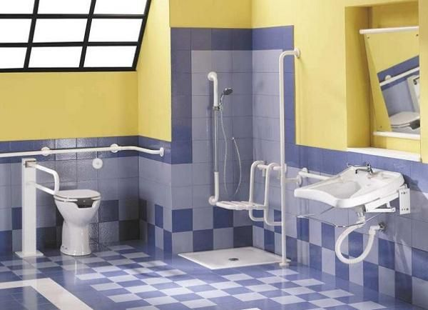Handicapped Friendly Bathroom Design Ideas For Disabled People - Disabled bathroom fixtures