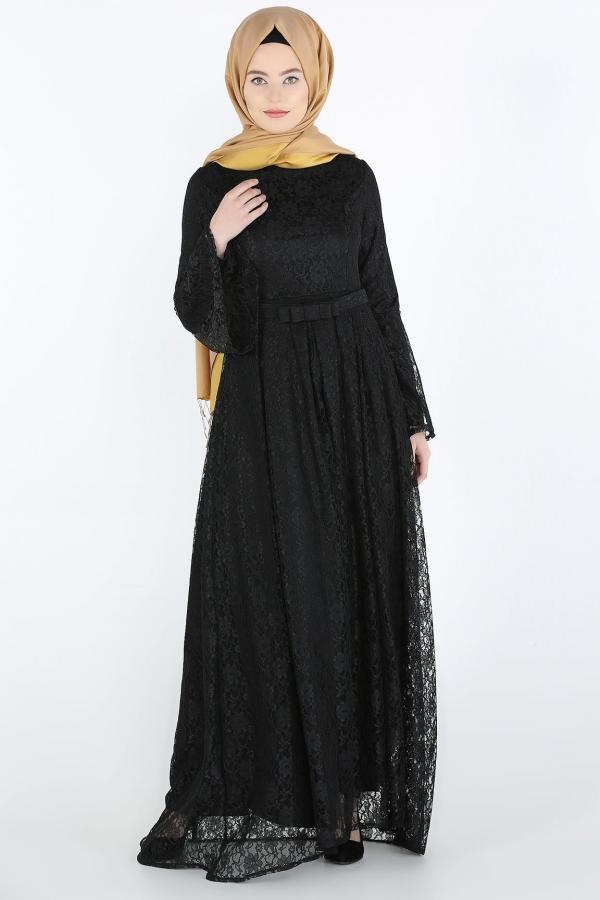Komple Dantel Tesettur Abiye Siyah Kapida Odemeli Ucuz Bayan Giyim Online Alisveris Sitesi Modivera Com Ucuz Tesettur Abiye Elbiseler The Dress Giyim Elbise