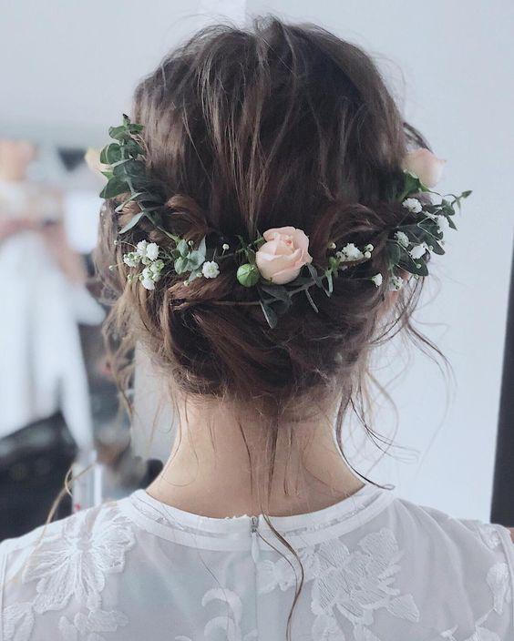 Ranunculus hair comb boho rustic wedding headpiece gift for women her bridal hair accessories Summer wedding