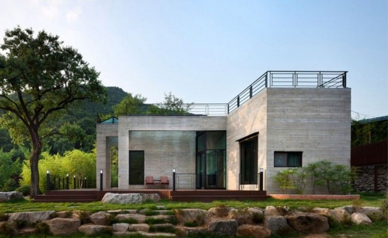concrete and steel prefab house  Houses Pinterest Prefab