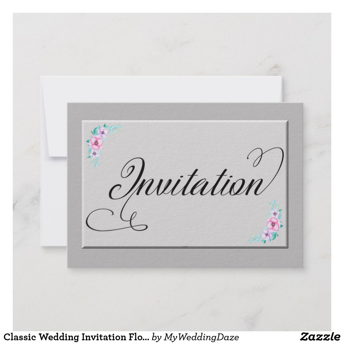 Classic Wedding Invitation Floral 2 Design Thank You Cards Thank