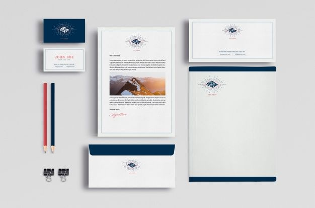 Download Business Stationery Mock Up For Free Stationery Mockup Stationery Branding Business Stationery