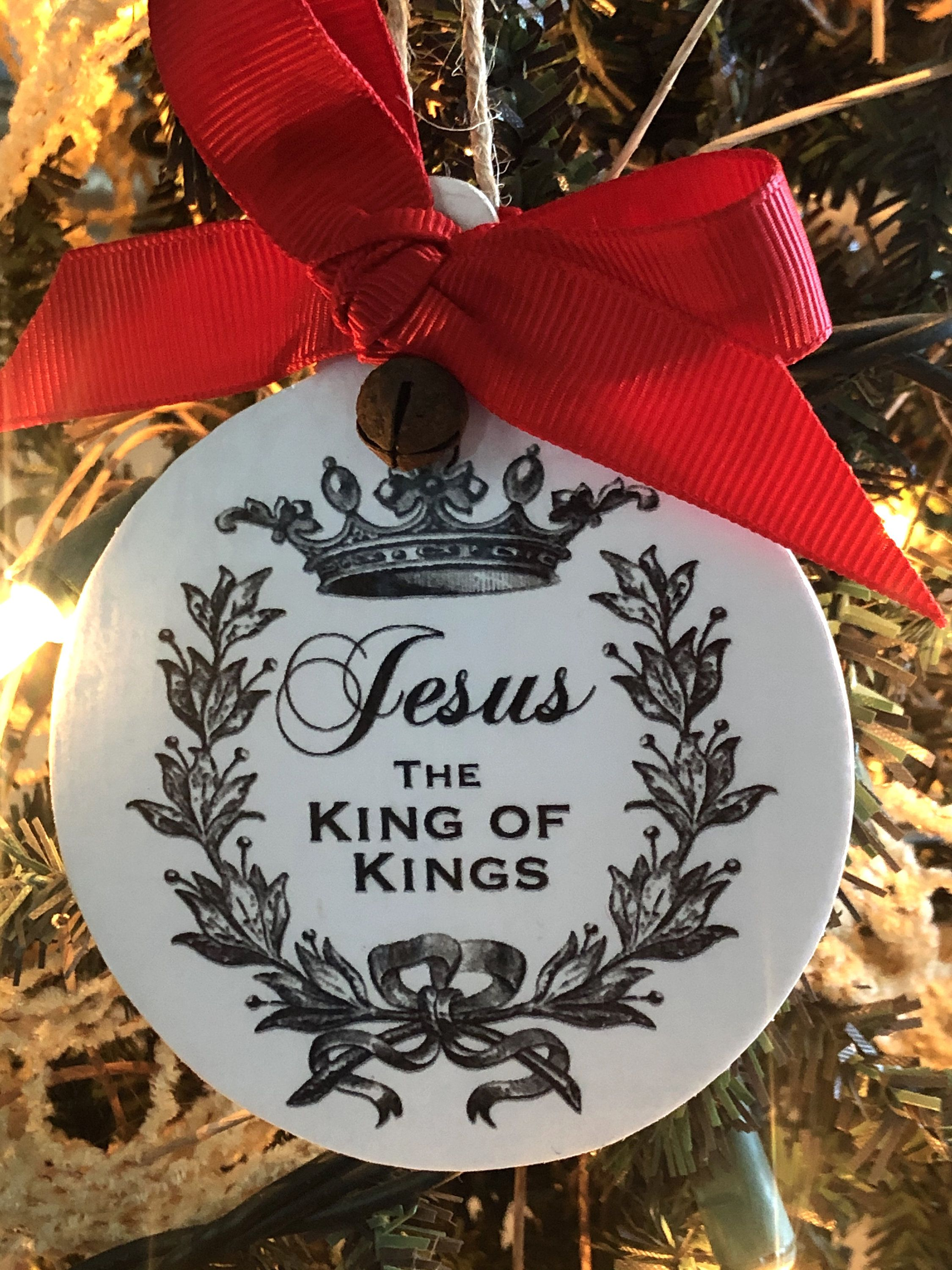 2020 Jesus Ornament Jesus The King Of Kings Ornament Family Etsy In 2020 Family Christmas Ornaments Engagement Christmas Ornament Christian Ornaments