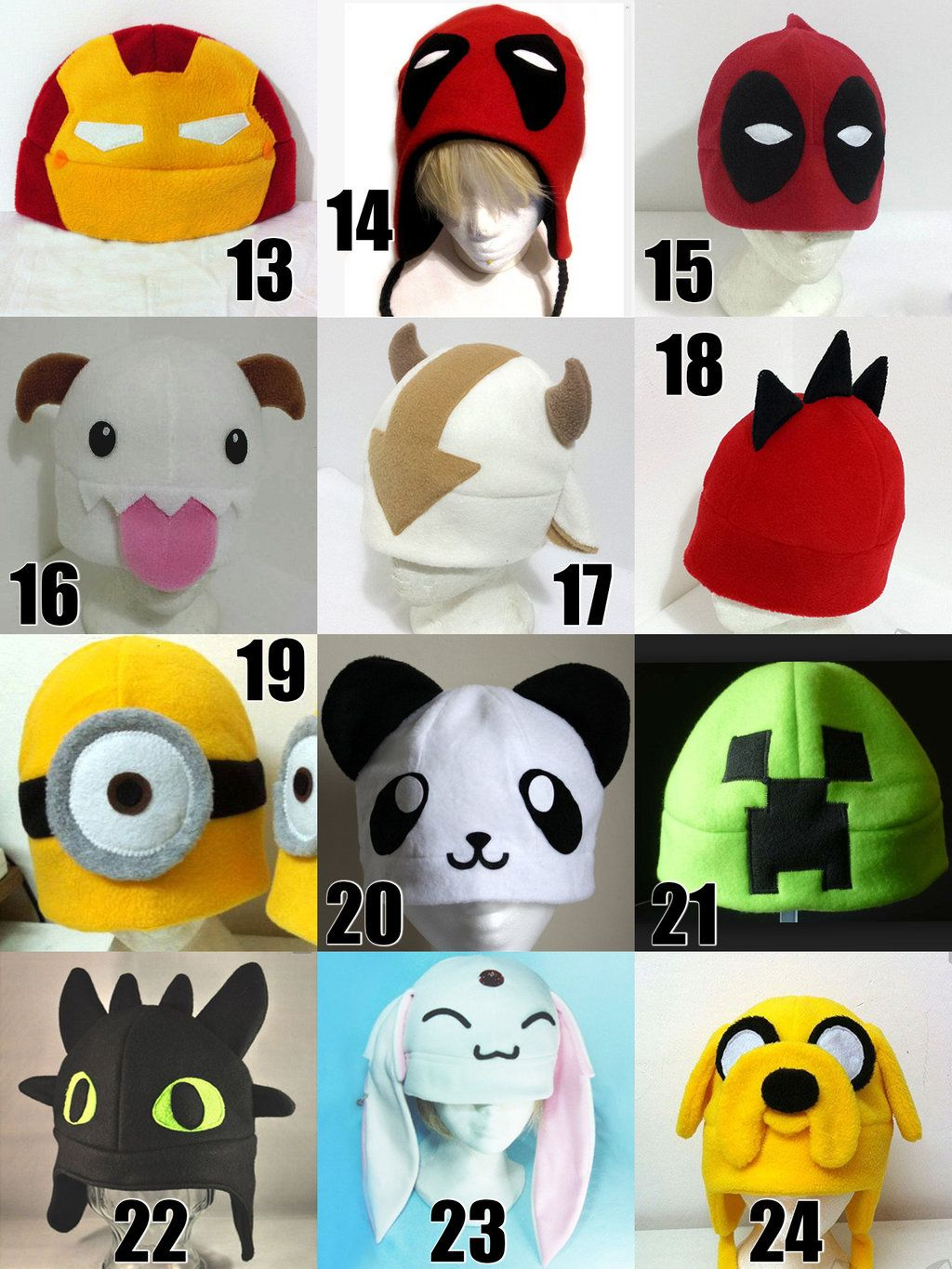 845319540d8da Gorros Kawaii Otaku Anime Jake Finn Chimuelo Deadpool - Bs. 5.500