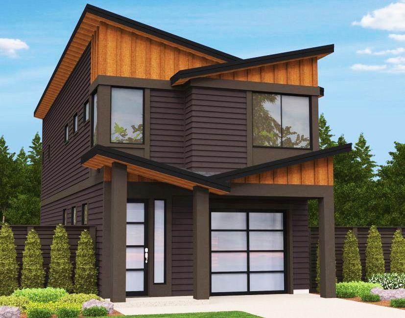 Narrow Lot Modern House Plan 85099MS