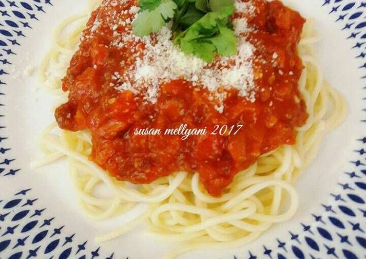 Resep Spagetti Bolognese Oleh Susan Mellyani Resep Resep Sushi Resep Makanan Makanan