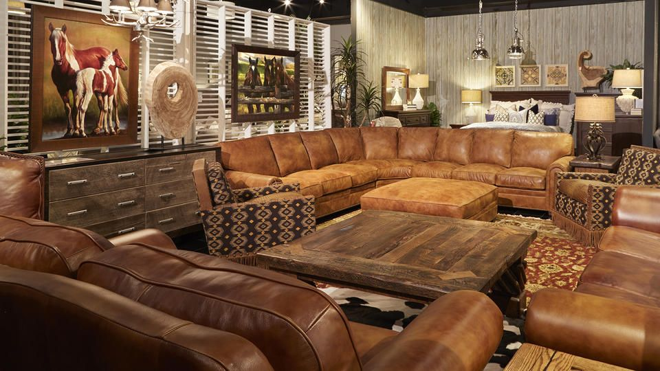 Achieve An Authentic Texas Traditional Style Home With This Lovely Rustic  Leather Sectional Located At Our