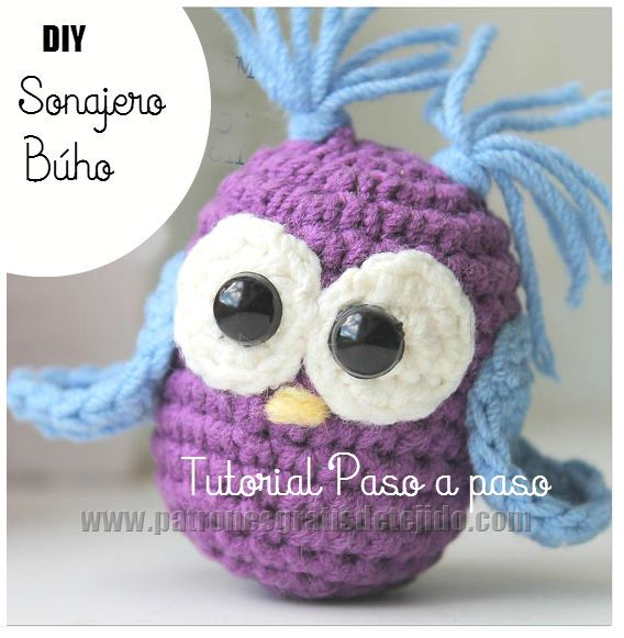 paso a paso amigurumi buho crochet ganchillo | Ganchillo | Pinterest ...